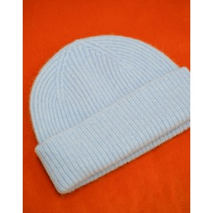Rib Knit Beanie Light Blue