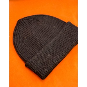 Le Bonnet Rib Knit Beanie in Onyx