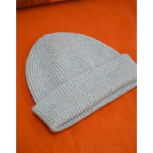 Le Bonnet Rib Knit Beanie in Smoke