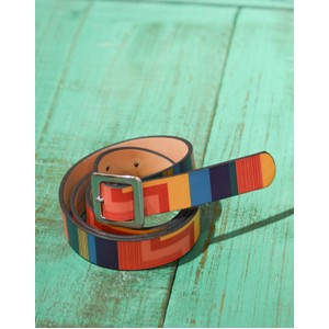 Rainbow Stripe Belt Navy