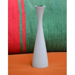 Tall Candleholder Gull Grey