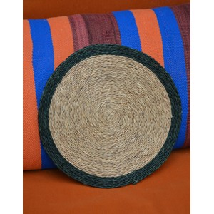Colour Trimmed Placemat-28cm Forest Green