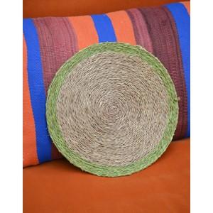 Colour Trimmed Placemat-28cm Lime