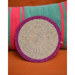 Colour Trimmed Placemat-28cm Pink