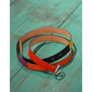 Colour Block Belt Pink/Red