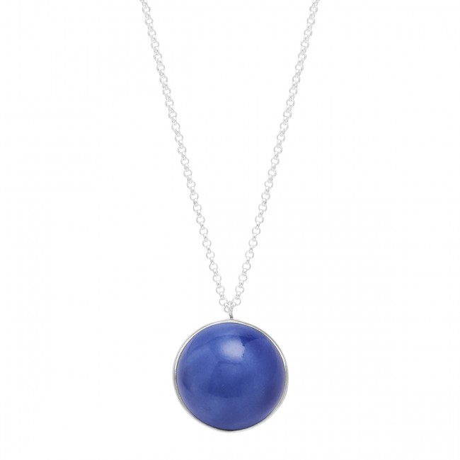 Louise Kragh Fall Necklace Silver/Royal Blue