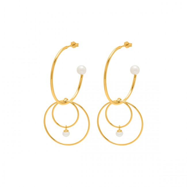 Louise Kragh Mini Pearl Earrings Gold/Pearl
