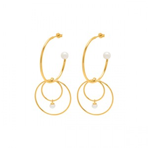 Mini Pearl Earrings Gold/Pearl