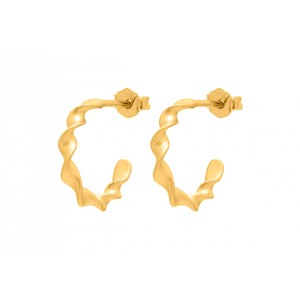 N Roll Earrings Matt Gold