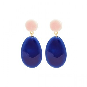 Unik Earrings Gold/Royal Blue