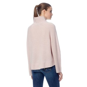 360 Sweater Margaret High Neck Rib Trim Knit Bisque