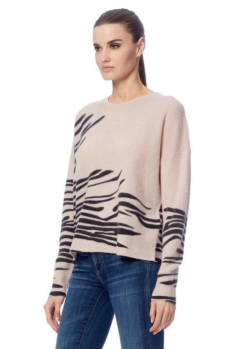 360 Sweater Molly Tiger Stripe Jumper Bisque/Black