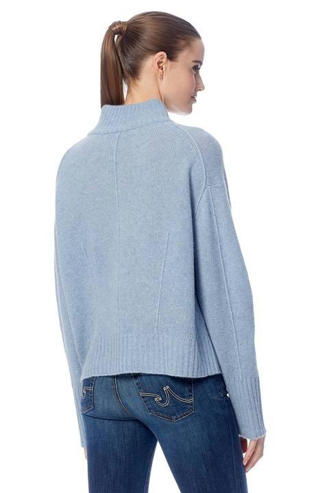 360 Sweater Lyla Hi Nk Rib Trim Boxy Knit Stonewashed