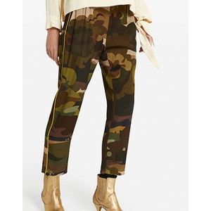 Forest Camo Print Trousers Military Green/Multi