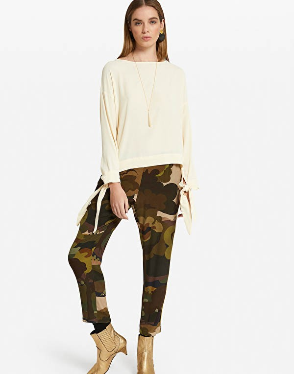 Ottod'Ame Forest Camo Print Trousers Military Green/Multi