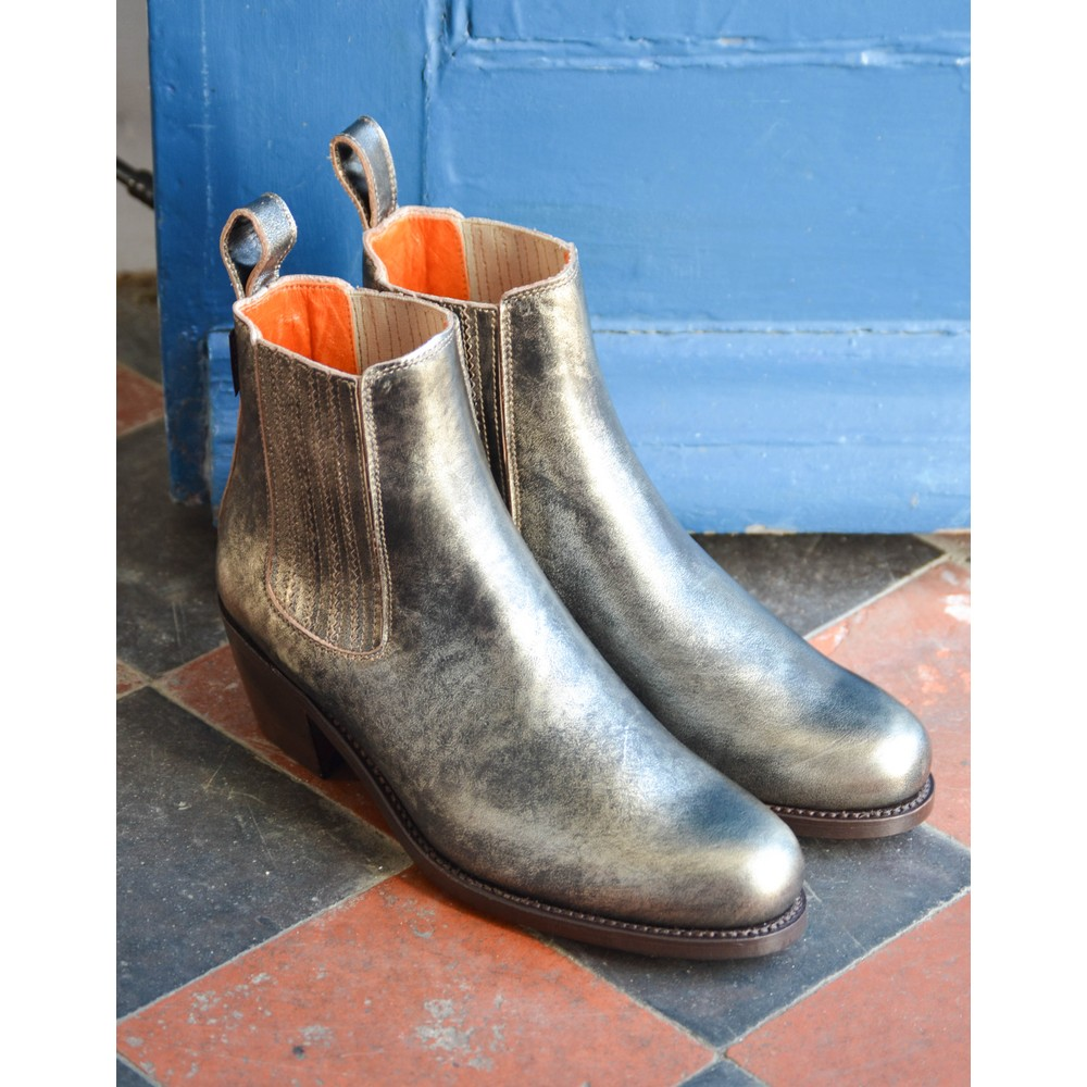 Penelope Chilvers Salva Metallic Boot Platinum