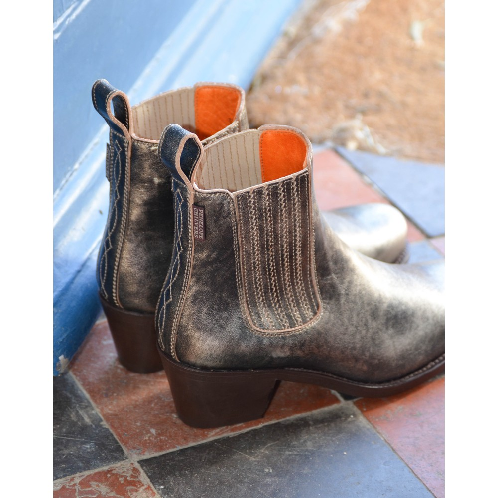 Penelope Chilvers Salva Metallic Boot Platinum