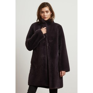 Mina Faux Fur Reversible Coat Exhaust