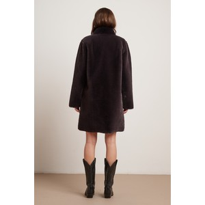 Velvet Mina Faux Fur Reversible Coat Exhaust