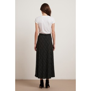 Velvet Shay Polka Dot Midi Skirt Black/Cream