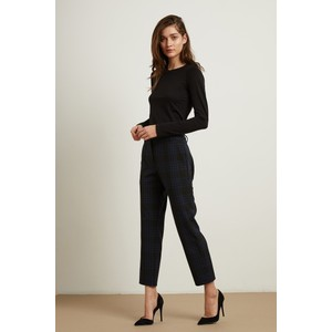 Allison Check Trouser Black/Navy