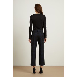 Velvet Allison Check Trouser Black/Navy