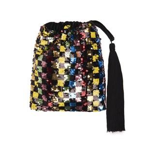 Viona Sequin Squares Bag Black/Multi