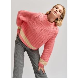 Venezia 1 Stripe Chunky Knit Jazzy Pink/Ecru