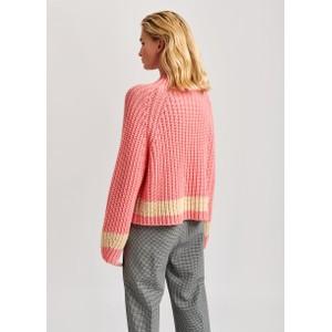 Essentiel Antwerp Venezia 1 Stripe Chunky Knit Jazzy Pink/Ecru