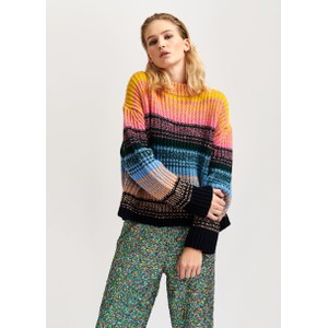 Vientiane Stripe Chunky Knit Winter Moss/Multi