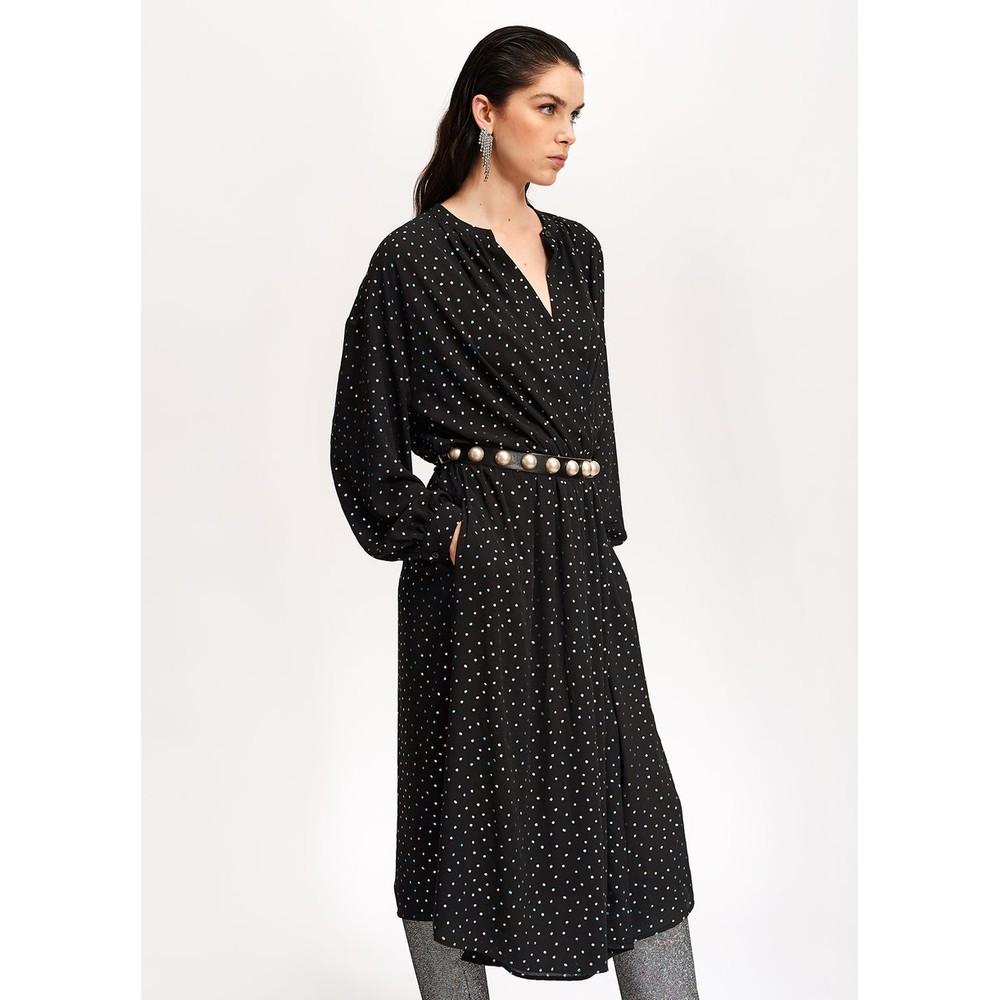 Essentiel Antwerp Vidaloca Metallic Dot Dress Black/Multi