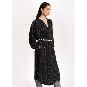 Vidaloca Metallic Dot Dress Black/Multi