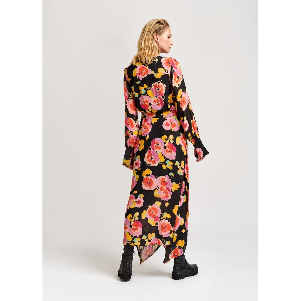 Essentiel Antwerp Valoumi Floral Wrap Dress Black/Multi