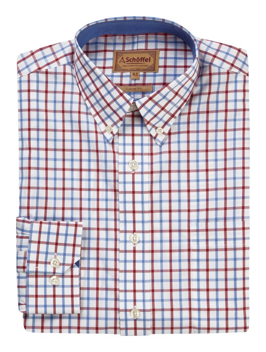 Schoffel Country Holkham Shirt Red/Blue