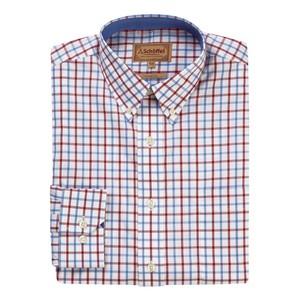 Holkham Shirt Red/Blue