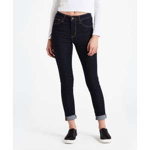 Levis 724 High Rise Straight Black Sheep