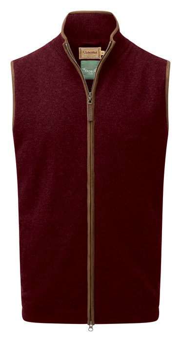 Schoffel Country Lambswool Aerobloc Gilet Damson