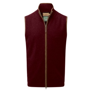 Schoffel Country Lambswool Aerobloc Gilet in Damson