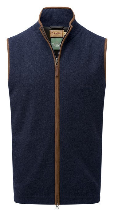 Schoffel Country Lambswool Aerobloc Gilet Navy