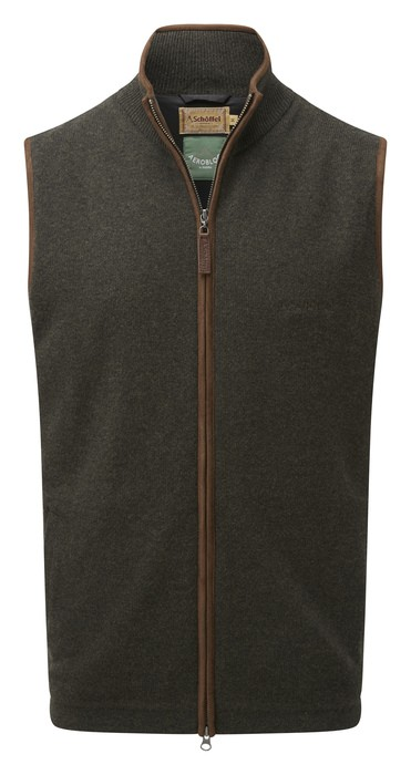 Schoffel Country Lambswool Aerobloc Gilet Loden Green