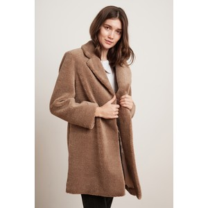 Trishelle Teddy Bear Coat Tan