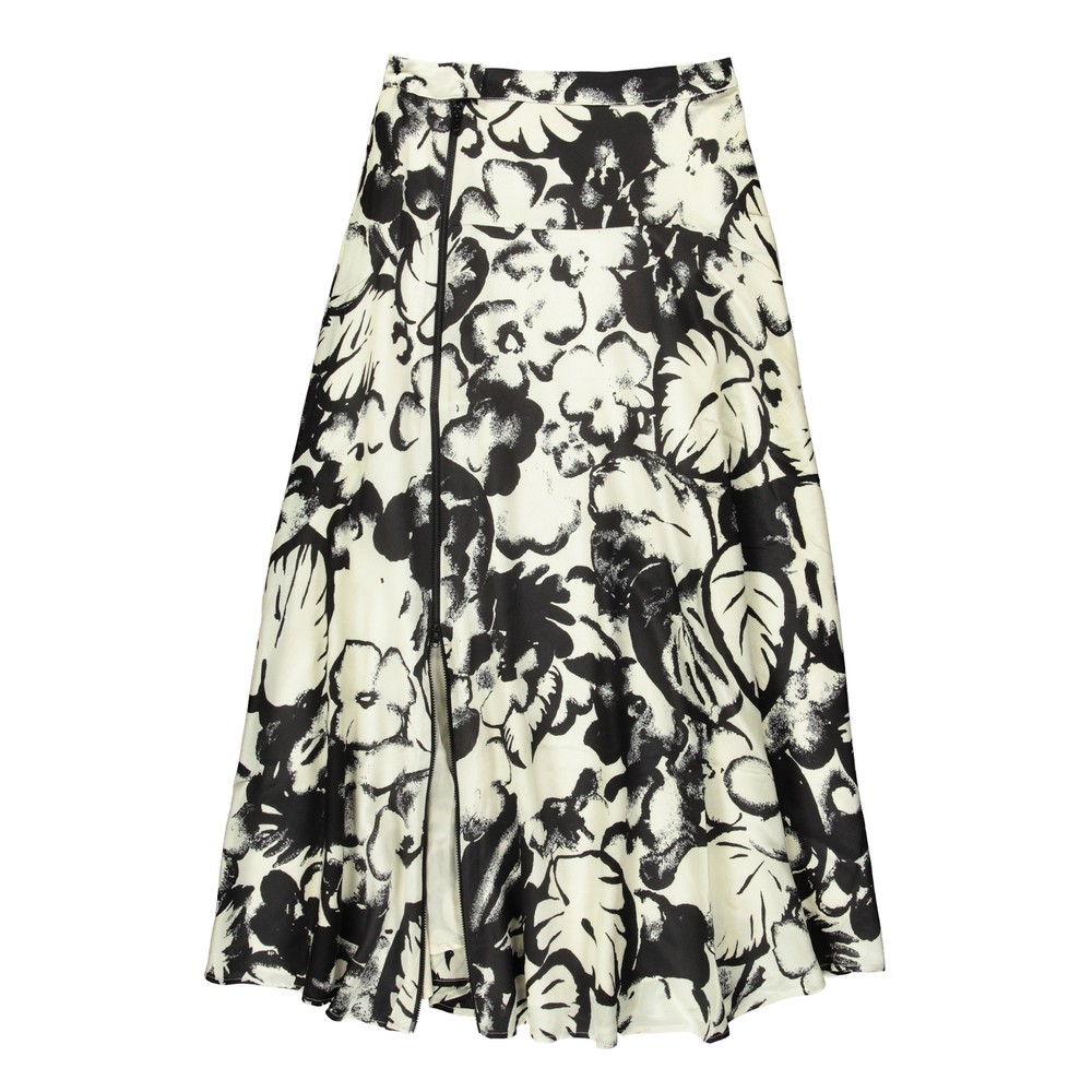 Essentiel Antwerp Vink Full Zip Printed Skirt Off White/Black