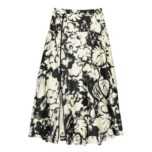 Vink Full Zip Printed Skirt Off White/Black