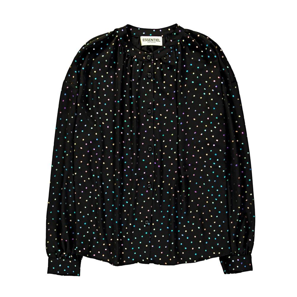 Essentiel Antwerp Voulezvous Metallic Dot Shirt Black/Multi