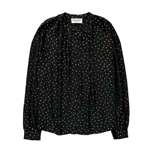 Voulezvous Metallic Dot Shirt Black/Multi