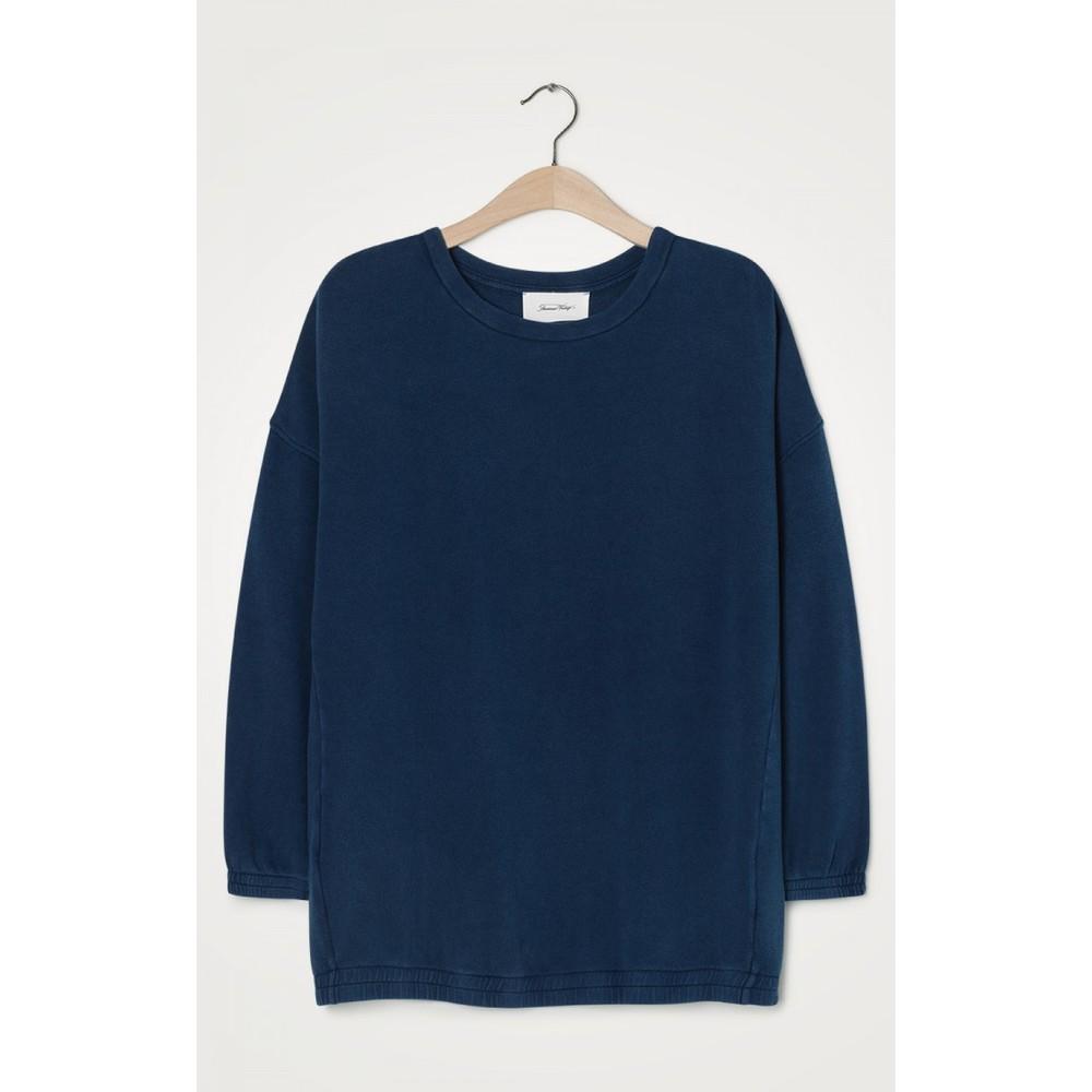 American Vintage Hapylife Loose Fit Sweater Vintage Blue