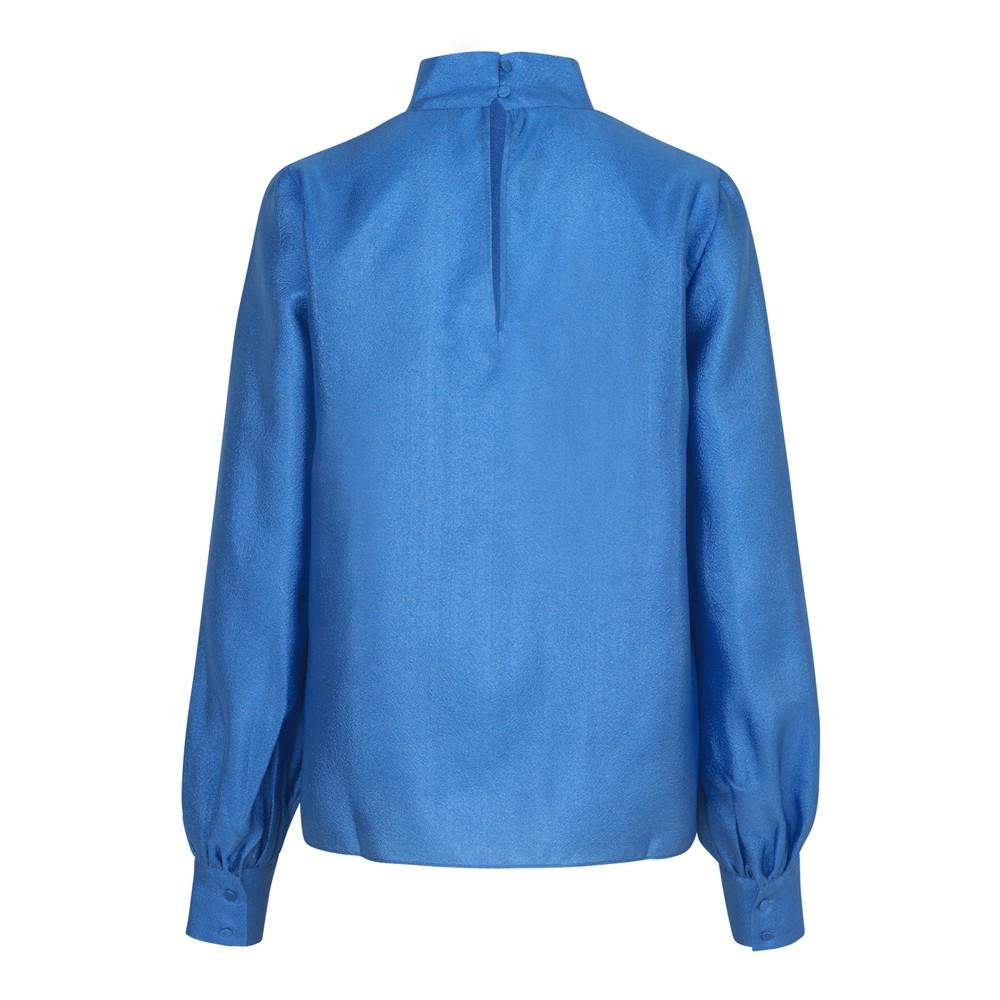 Stine Goya Eddy Hi Nk Balloon Slv Blouse Blue