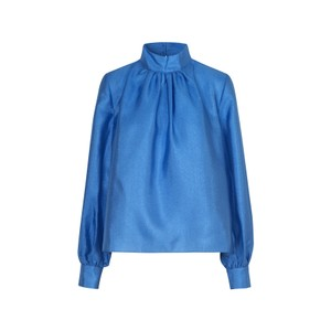 Eddy Hi Nk Balloon Slv Blouse Blue