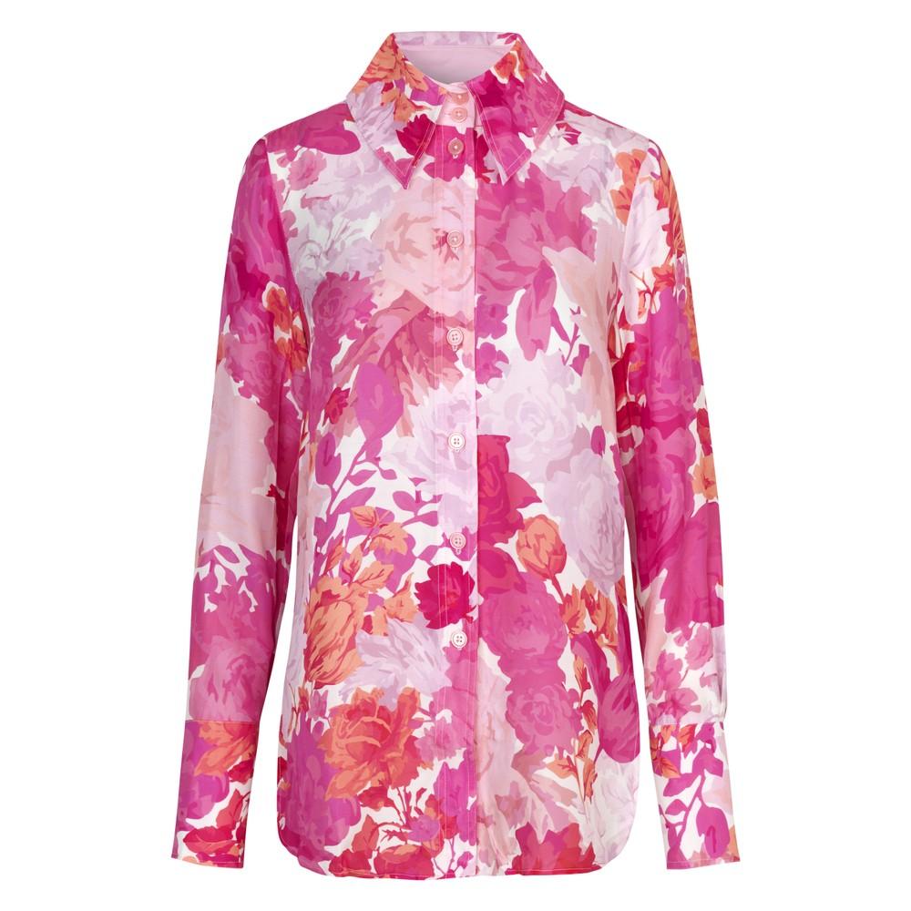 Stine Goya James Rose Silk Shirt Rosegarden Pink