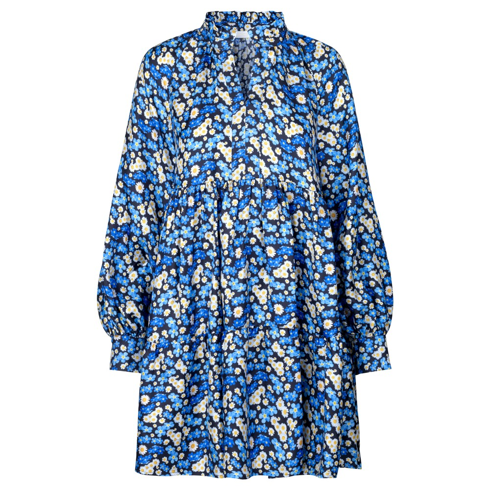 Stine Goya Jasmine Silk Floral Dress-Slip Forget Me Not